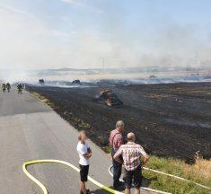 Großer Flächenbrand in Offheim, Dehrner Weg