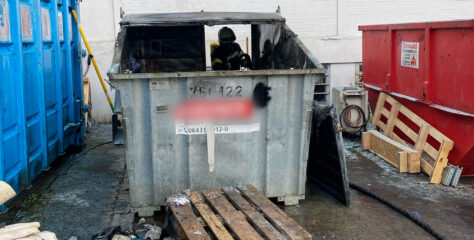 F 1: Brennt Container, Limburger Straße